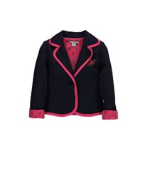 Hartstrings Big Girls' Knit Ponte Collegiate Blazer, Peacoat Navy, 7/8