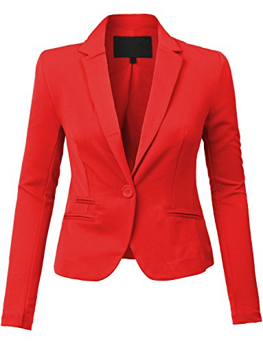 LE3NO Women's Fitted Boyfriend Blazer