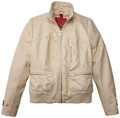 Collection B Big Girls' Faux Leather Jacket, Cream, 10/12