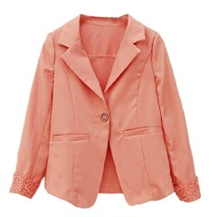 Urparcel Girls Lace Blazers Lapel Jacket Coat Solid Color Suit Outerwear 2-10y